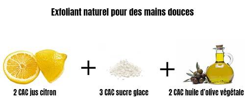 Exfoliant naturel pour des mains douces