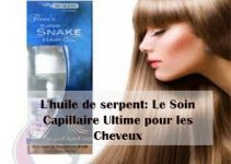 L'huile de serpent soin capillaire pour cheveux