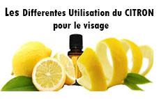 les differentes utilisation du citron pour le visage