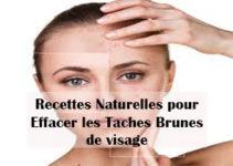 recettes naturelles pour effacer les taches brunes de visage