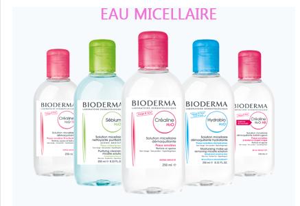 La gamme Bioderma de l'eau micellaire