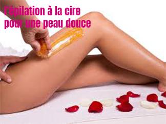 l'épilation à la cire pour une peau douce