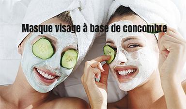 masque huile de concombre pour visage