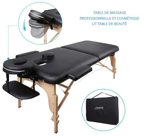 lit table de beauté pro et cosmétique de Naipo