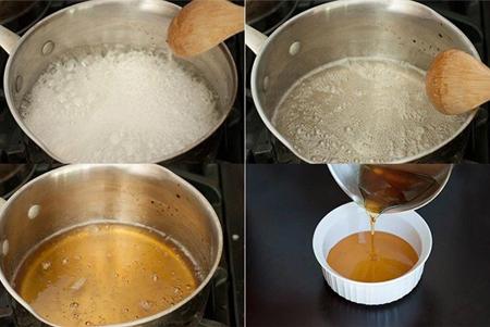 Étapes de fabrication de la cire caramel à la maison