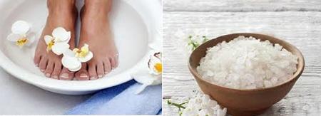 Les avantages et bienfaits d'un bain de pied à l'eau salé: