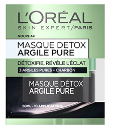 masque detox argile verte de l'oréal pour se débarrasser des comédons