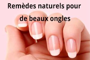 Remèdes naturelles pour de beaux ongles