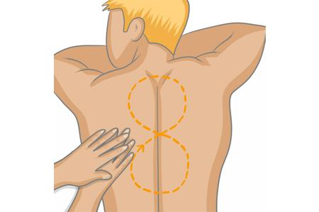 Réaliser le massage en 8