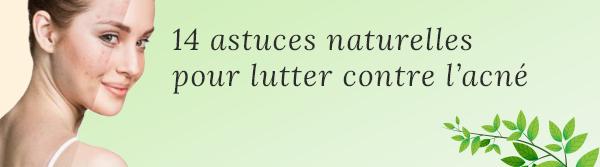 Remèdes naturels anti-acné